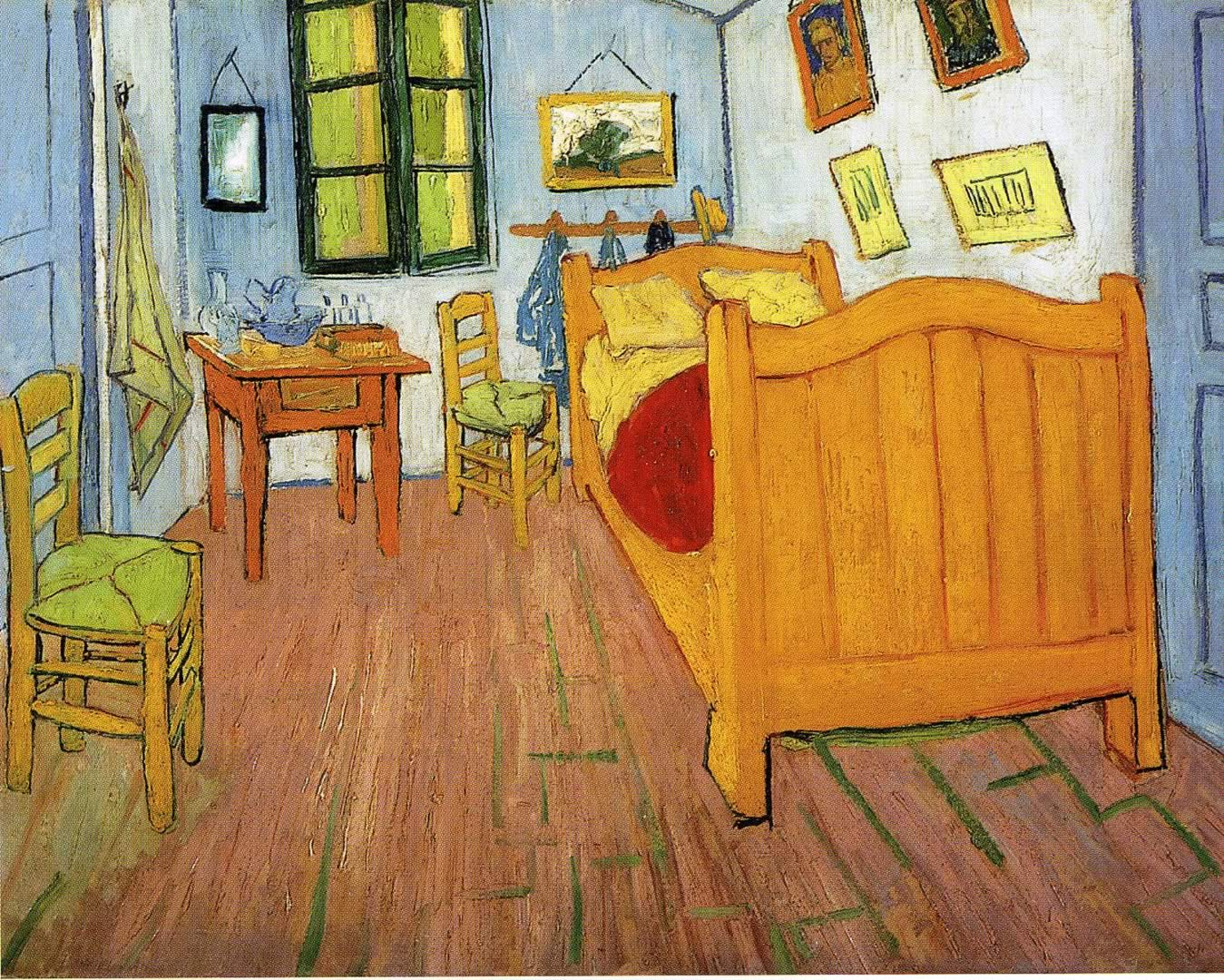 vincents bedroom in arles wallpaper image featuring vincent van gogh