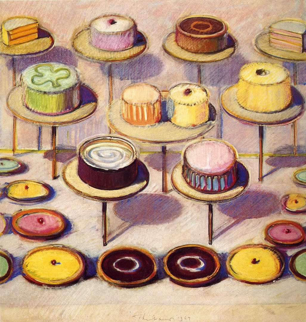 Assorted Cakes And Tarts Wayne Thiebaud