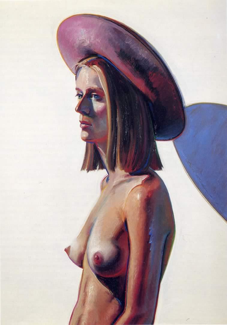 Nude Woman In Purple Hat