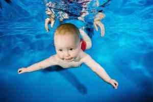 close up water baby