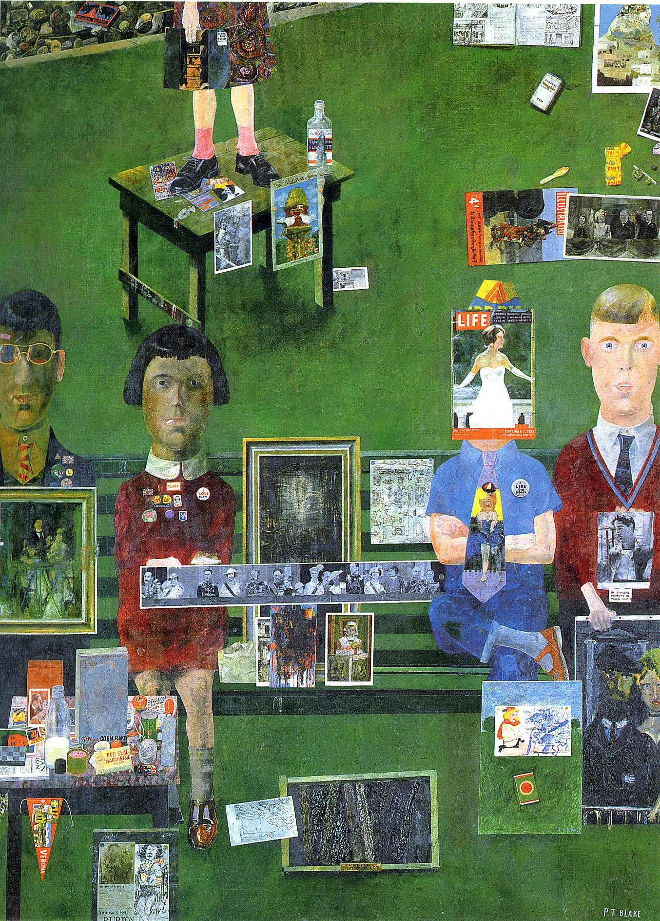 Peter blake so alice picked him up very gently 1970 for On the balcony