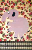pink elephant greeting card 1