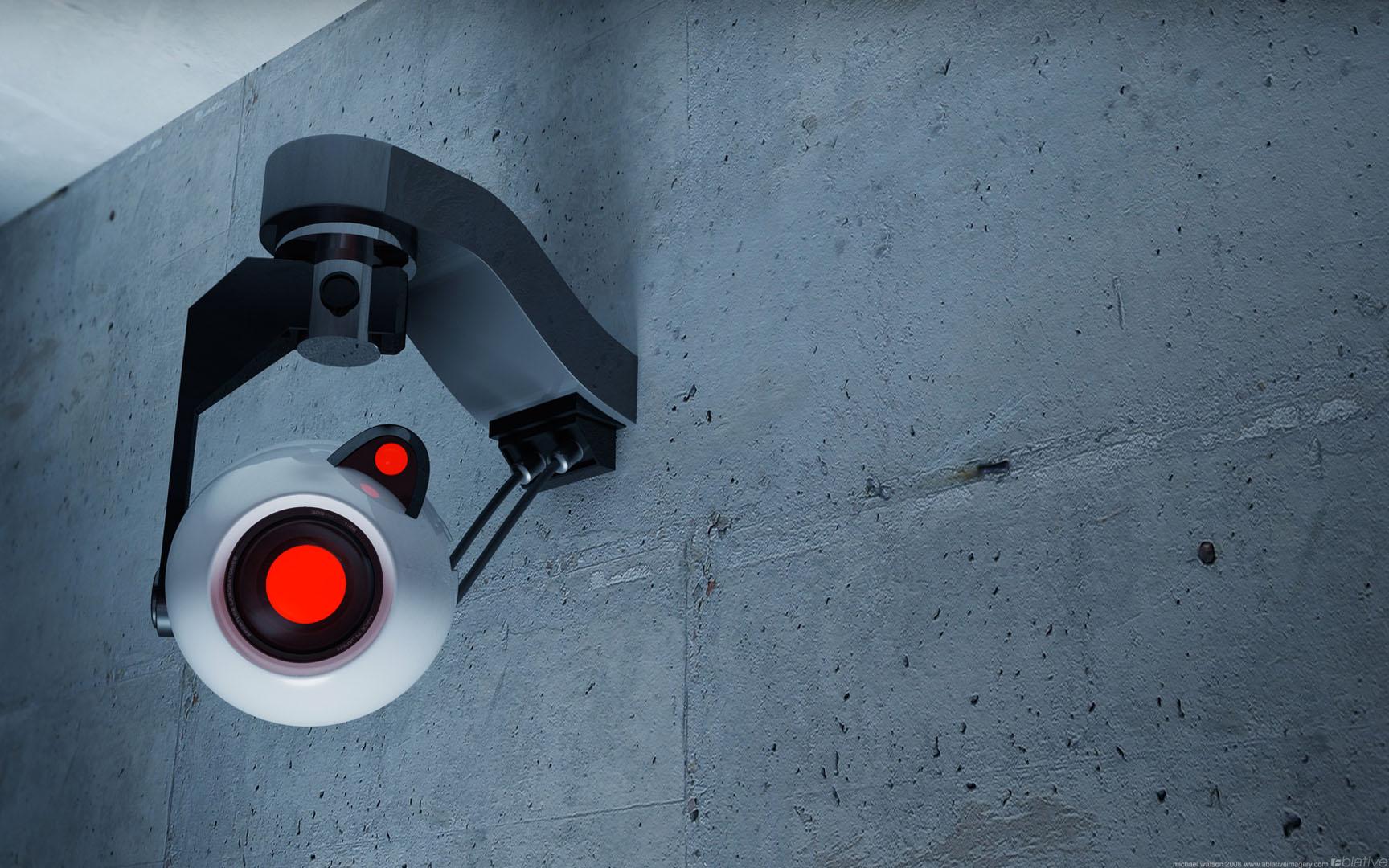 Look at the camera portal 2 wallpaper - Surveillance wallpaper ...