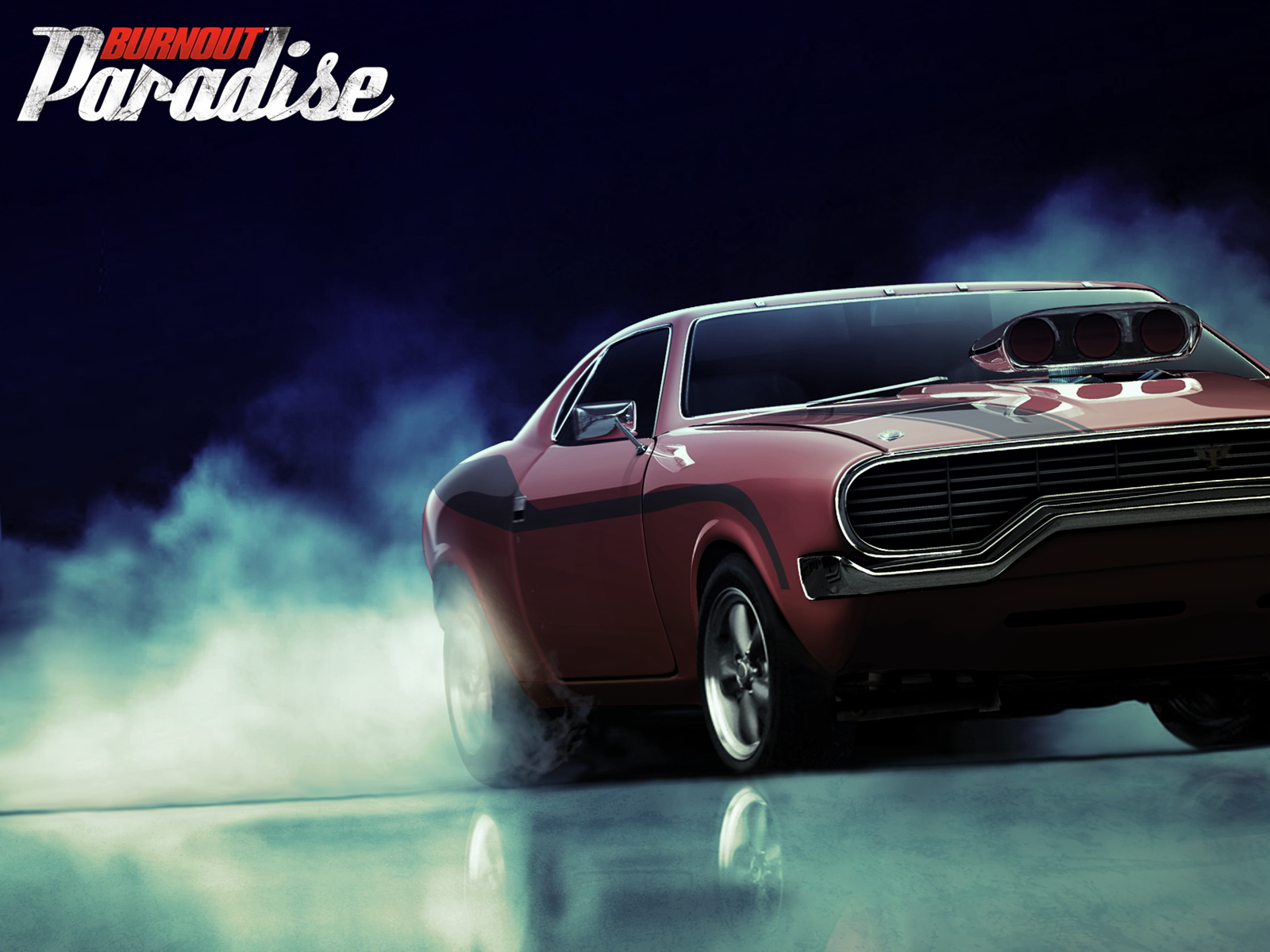 Muscle Car Burnout Paradise Wallpaper
