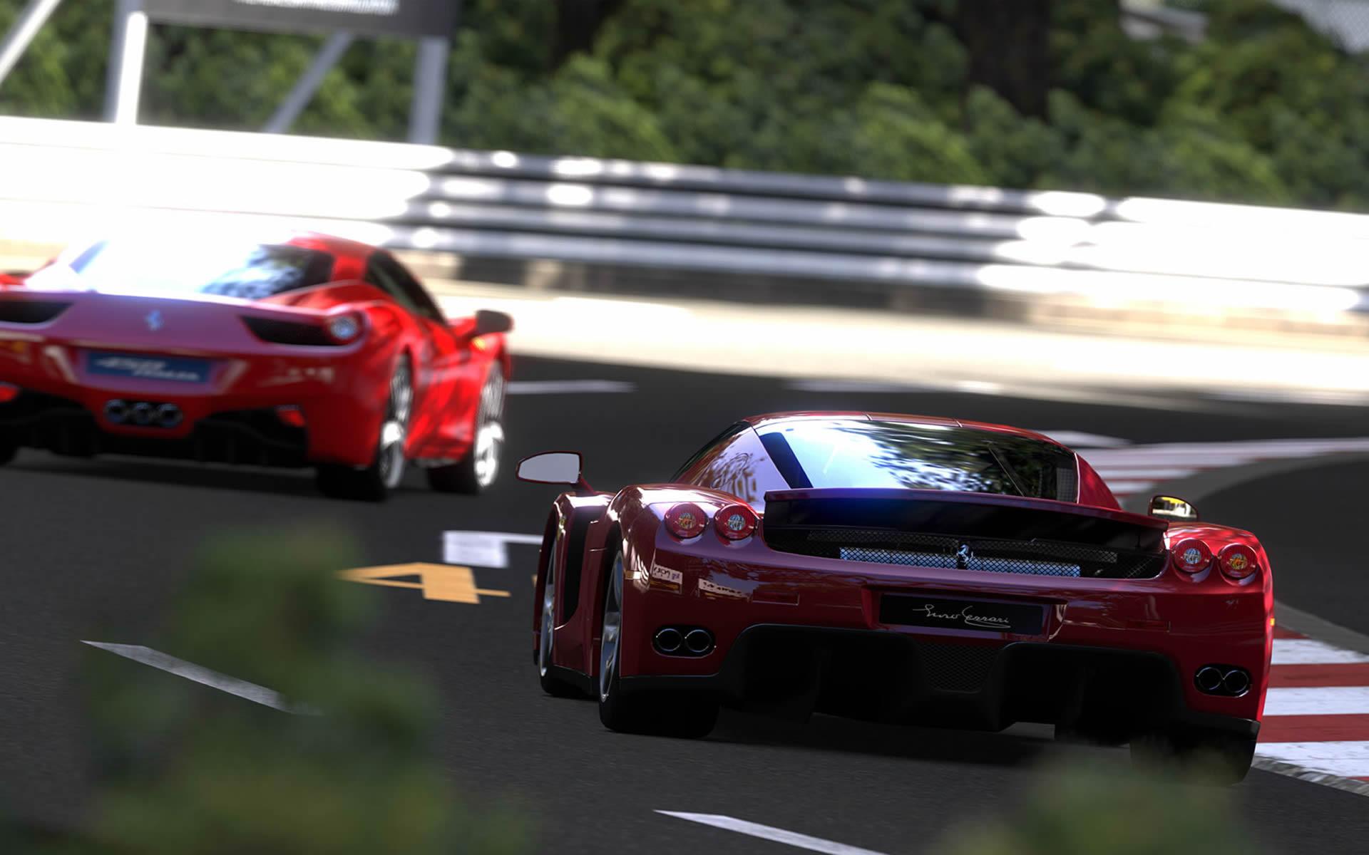 Racing Ferraris - Gran Turismo 5 Wallpaper
