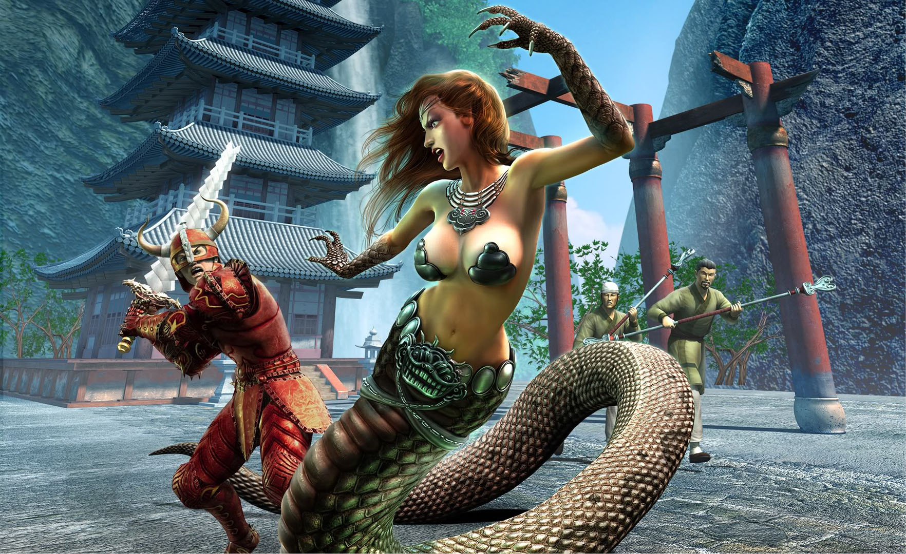 Warrior And Snake Woman