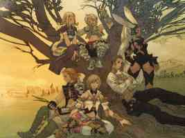 cast of ff XII sitting around a tree