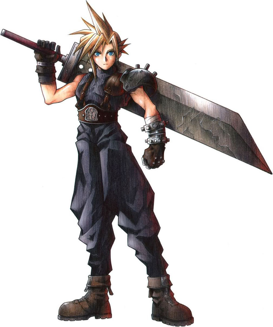 Final Fantasy Cloud Strife Wallpaper: Cloud Strife And His Giant Sword