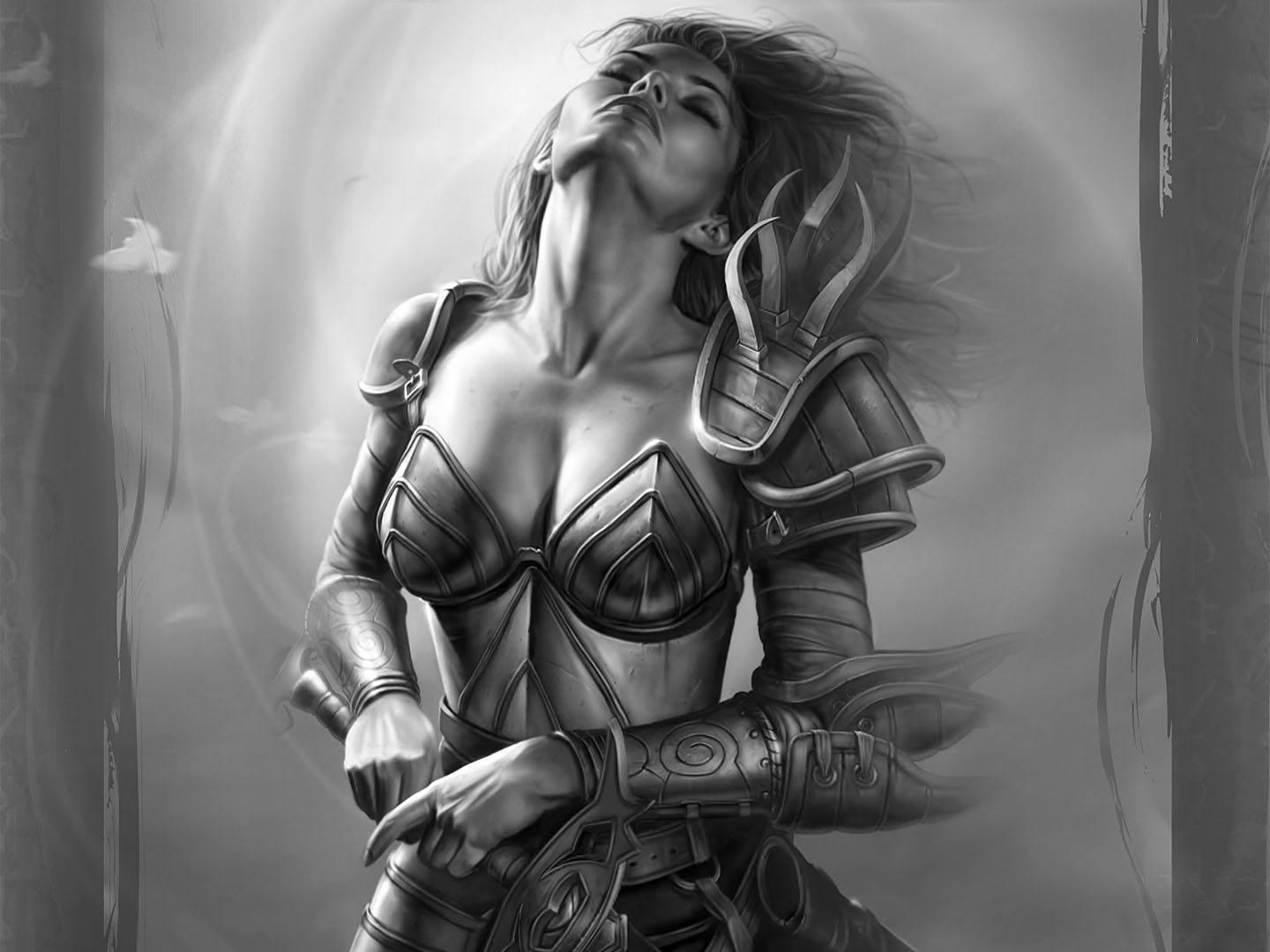 Lady Warrior Taking A Rest