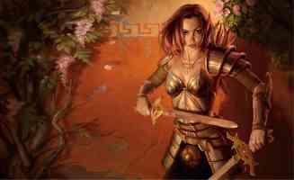 elven female dual wielder