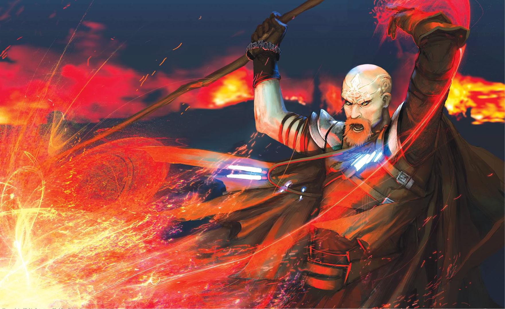 Warrior Mage Casting Destruction