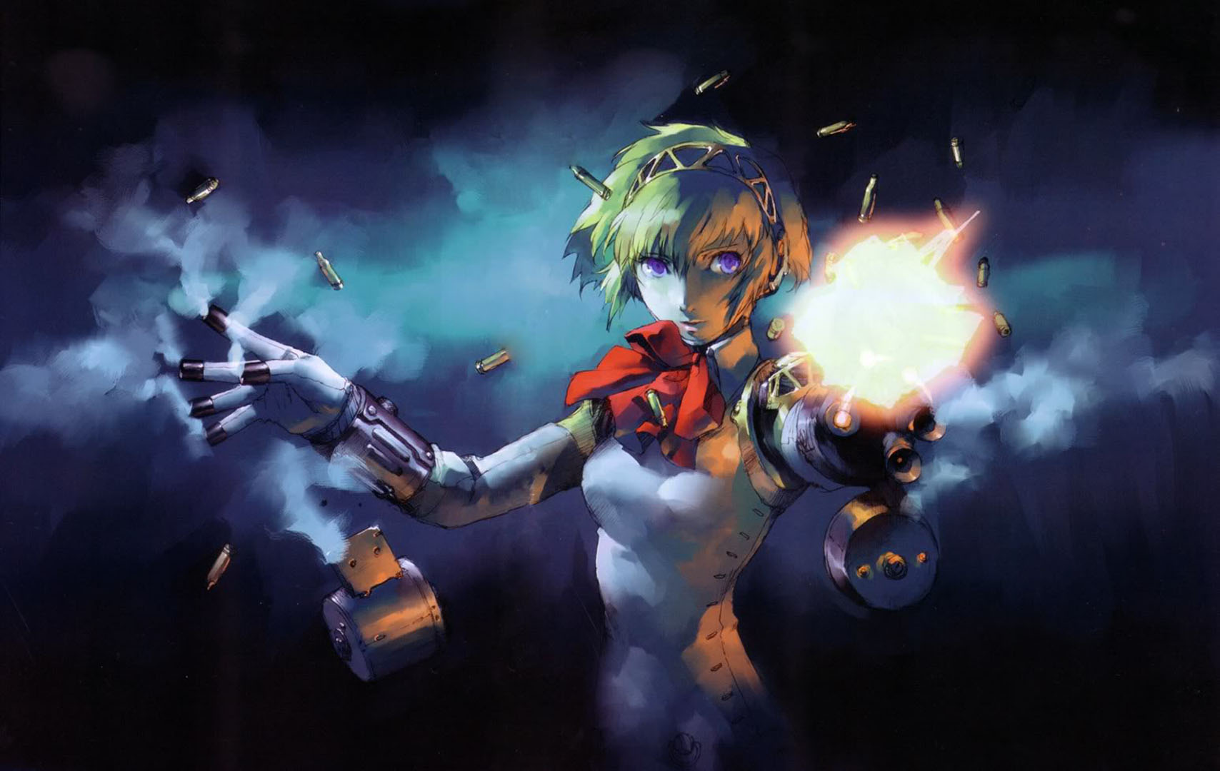 Aigis Shooting From Her Fingers