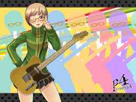 chie wearing glasses
