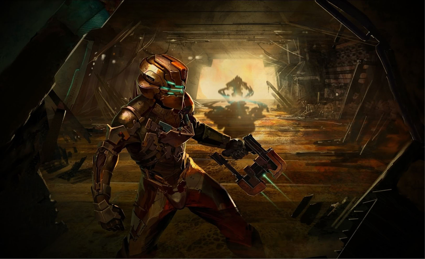 In the background scary games wallpaper image featuring dead space 2