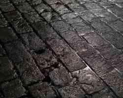 wet stone street