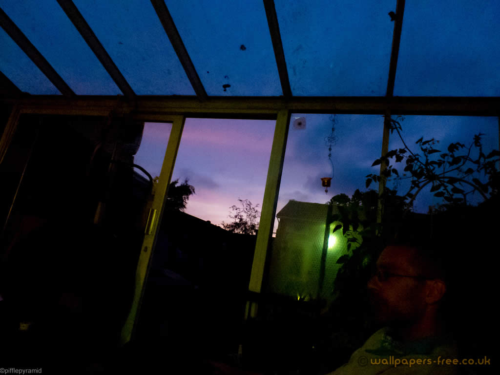 Purple Sky From Conservatory