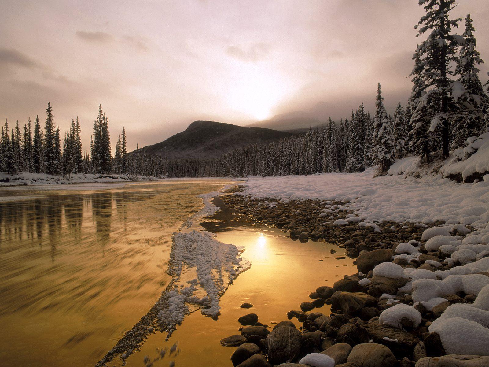 Bow River Rocky Mountains Canada