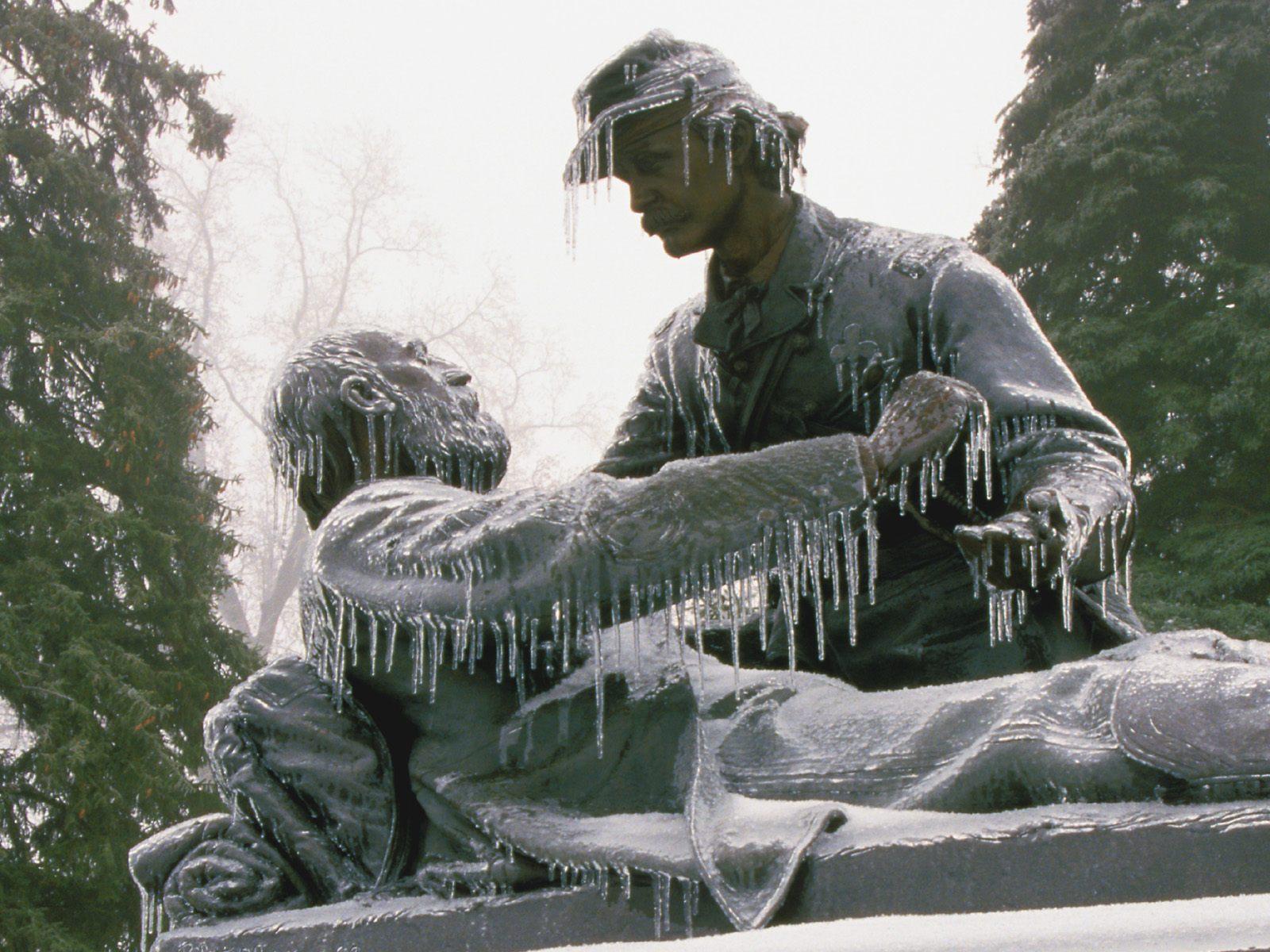 Friend To Friend Monument Gettysburg National Military Park Pennsylvania