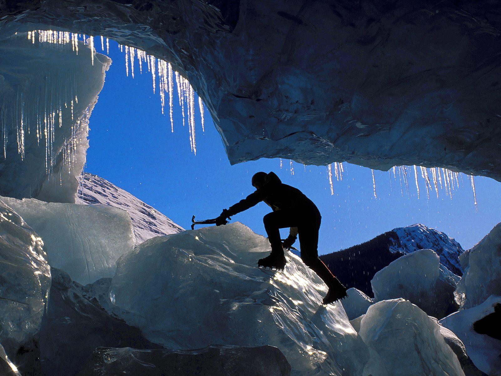 Snow Ice Climbing Mendenhall Glacier Alaska