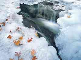 Ice Formations in Illinois Canyon Starved Rock State Park Illinois 0