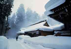Snowy Shrine Hakuba Japan 1984