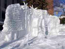 mammoth ice sculpture