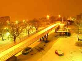 snow reclaims the city