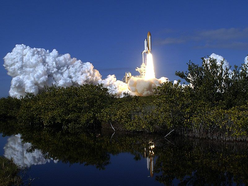 Liftoff Mission STS 107 1 16 2003