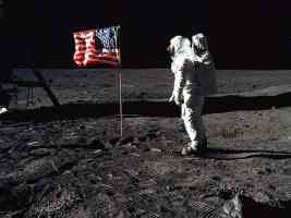 Aldrin On The Moon