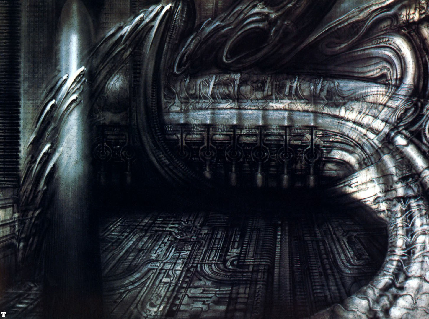 Biomechanical Landscape 007 - Science Fiction H R Giger