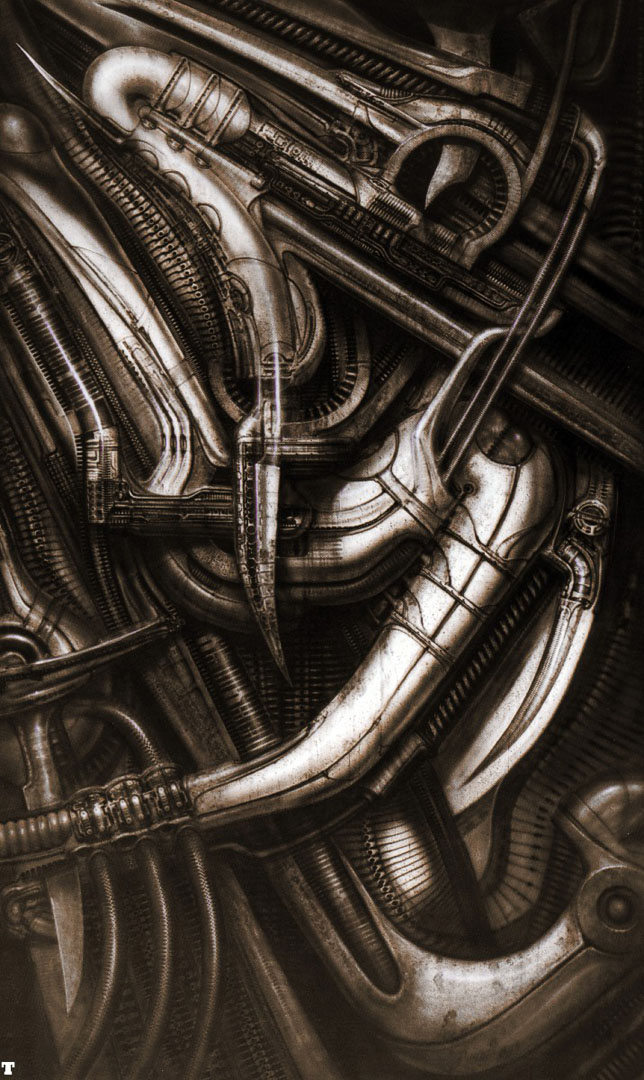Biomechanical Landscape 013 - Science Fiction H R Giger