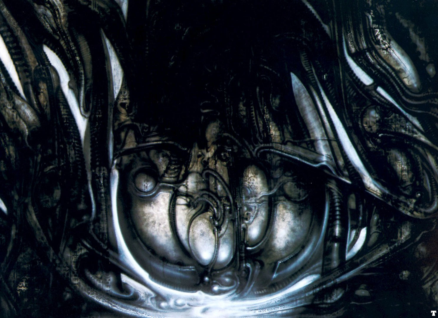 biomechanical landscape sack science fiction h r giger
