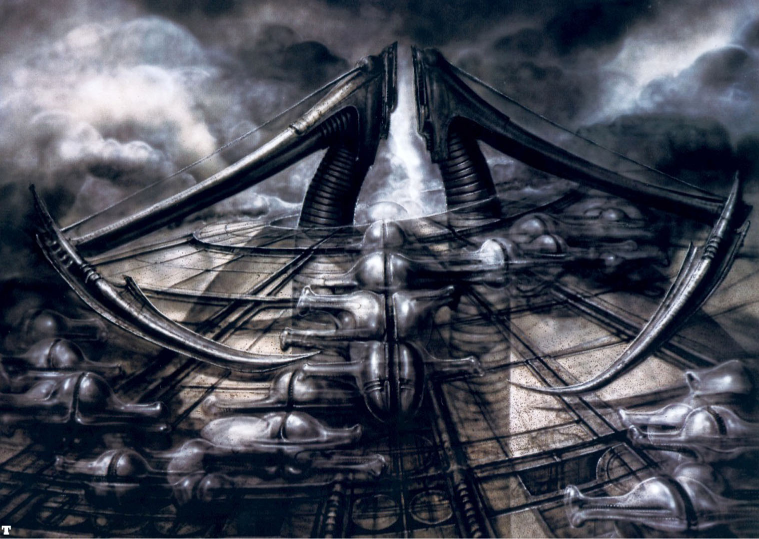 Biomechanical Landscape Scythe - Science Fiction H R Giger