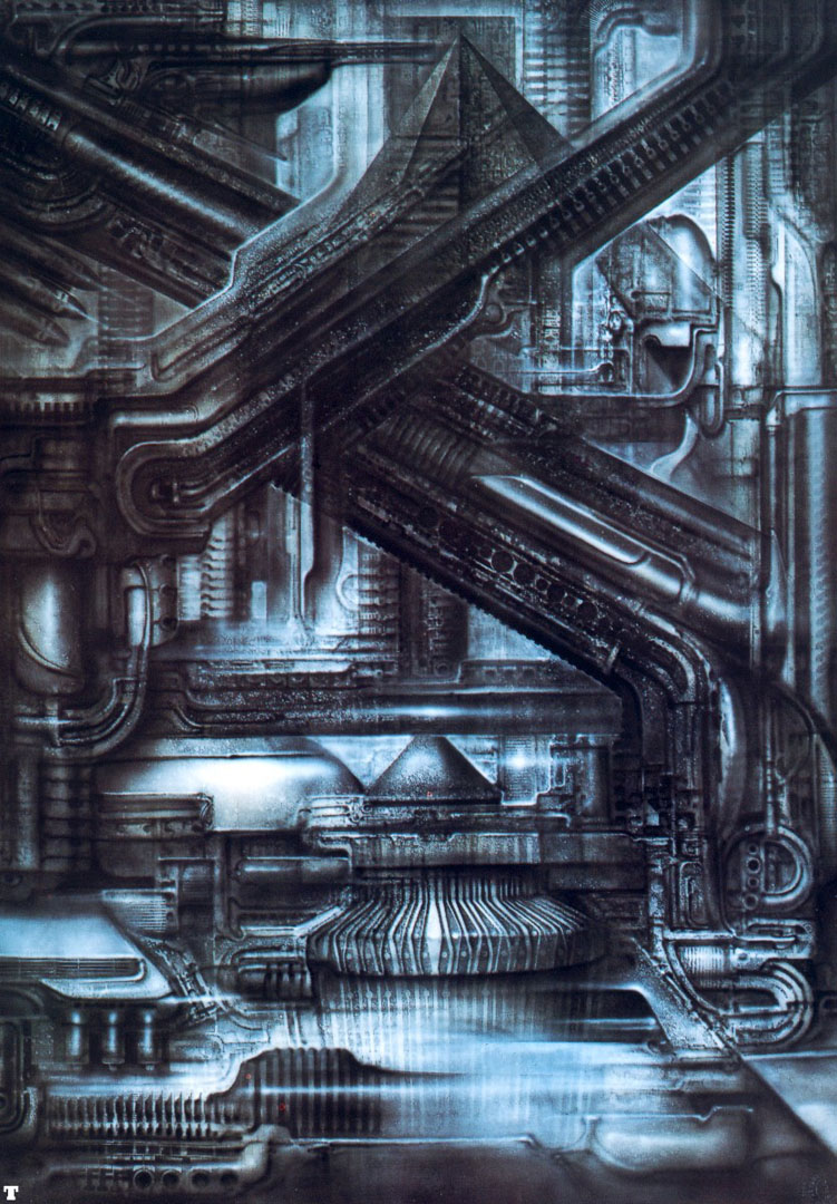 Newyorkcity Xxiv Escalator Science Fiction H R Giger