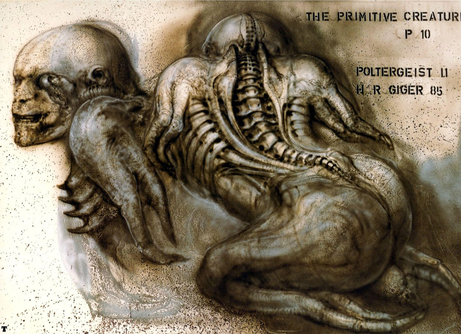 Http//ayaycouk/backgrounds/science Fiction/h R Giger/pii The Primitive Creature P10jpg  HR