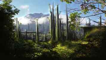 organic sci fi rainforest