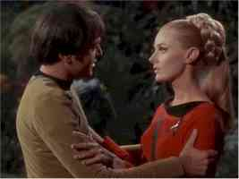 star trek babes celeste yarnell as lt landon in the apple