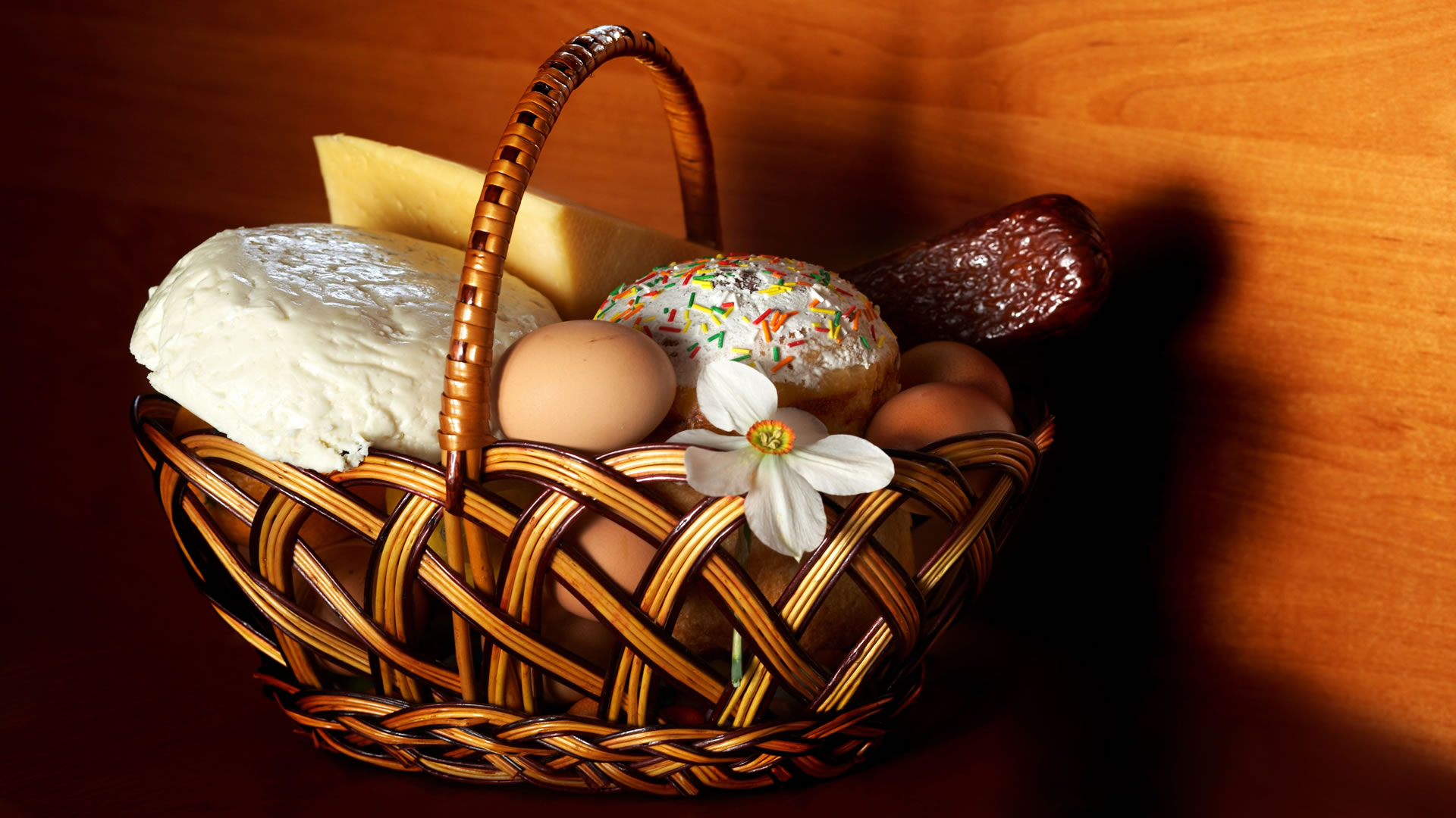 Basket Of Easter Food