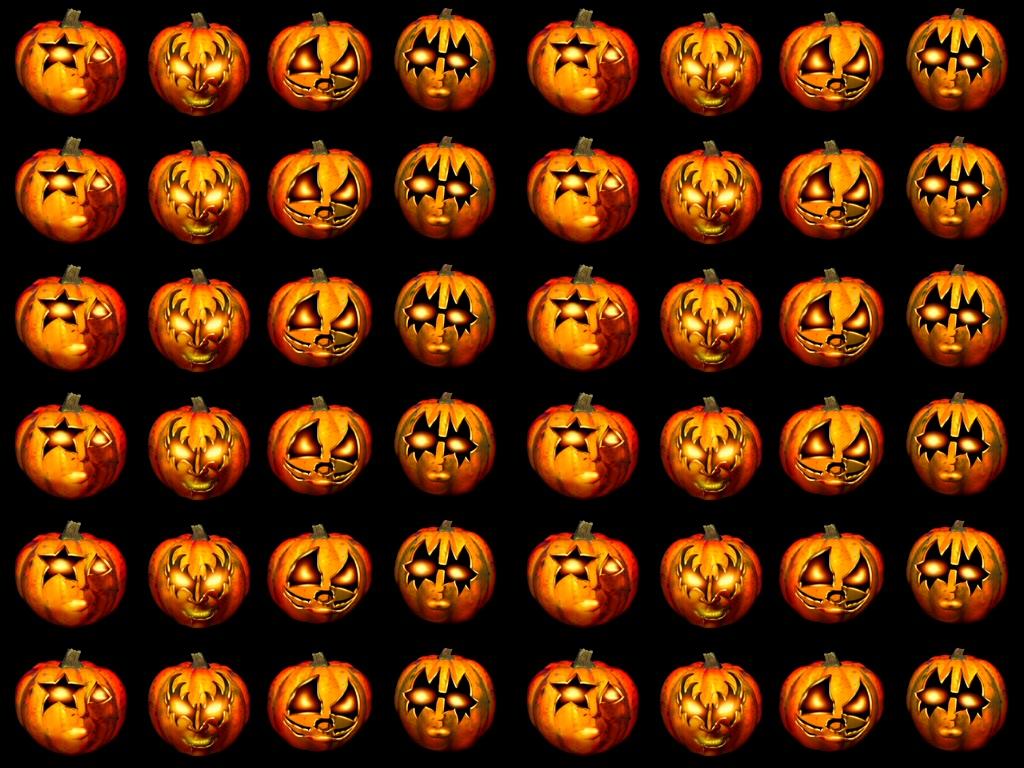 jack o lanterns pattern - halloween wallpaper