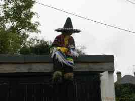 mexican living scarecrow