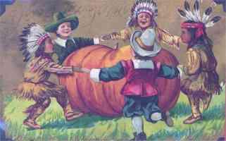 children and pumpkin thanksgiving