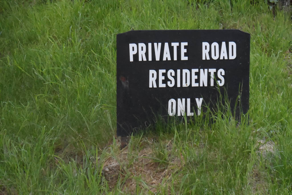 Private Road Residents Only