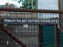 penalty for not shutting and fastening gate 2 pound