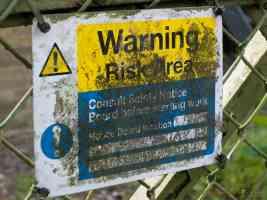 warning risk area