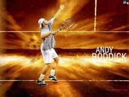 Andy Roddick Serving Wallpaper