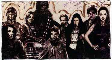chewbacca with his honor family and close friends