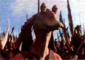 jar jar binks at the battle of naboo
