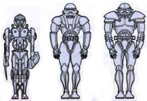 schematic of three dark trooper phases