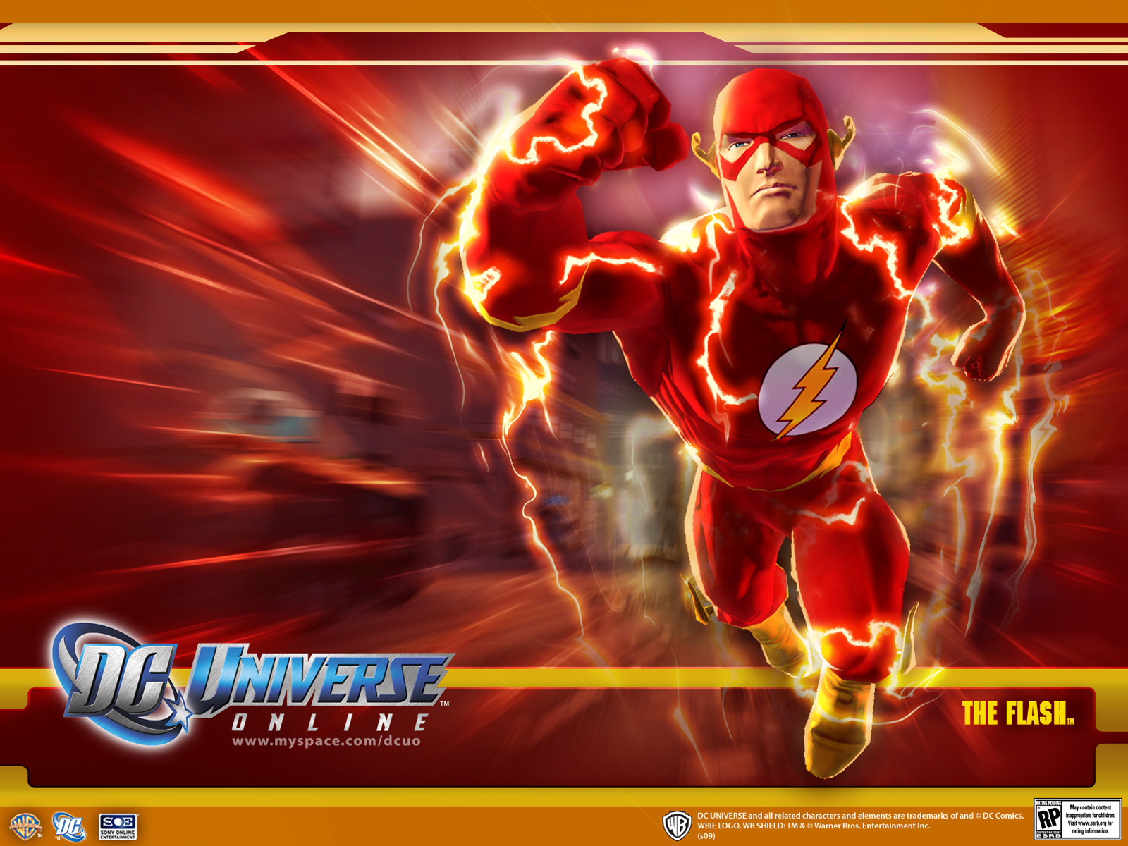 The Flash  Superhero Games Wallpaper Image featuring Dc Universe
