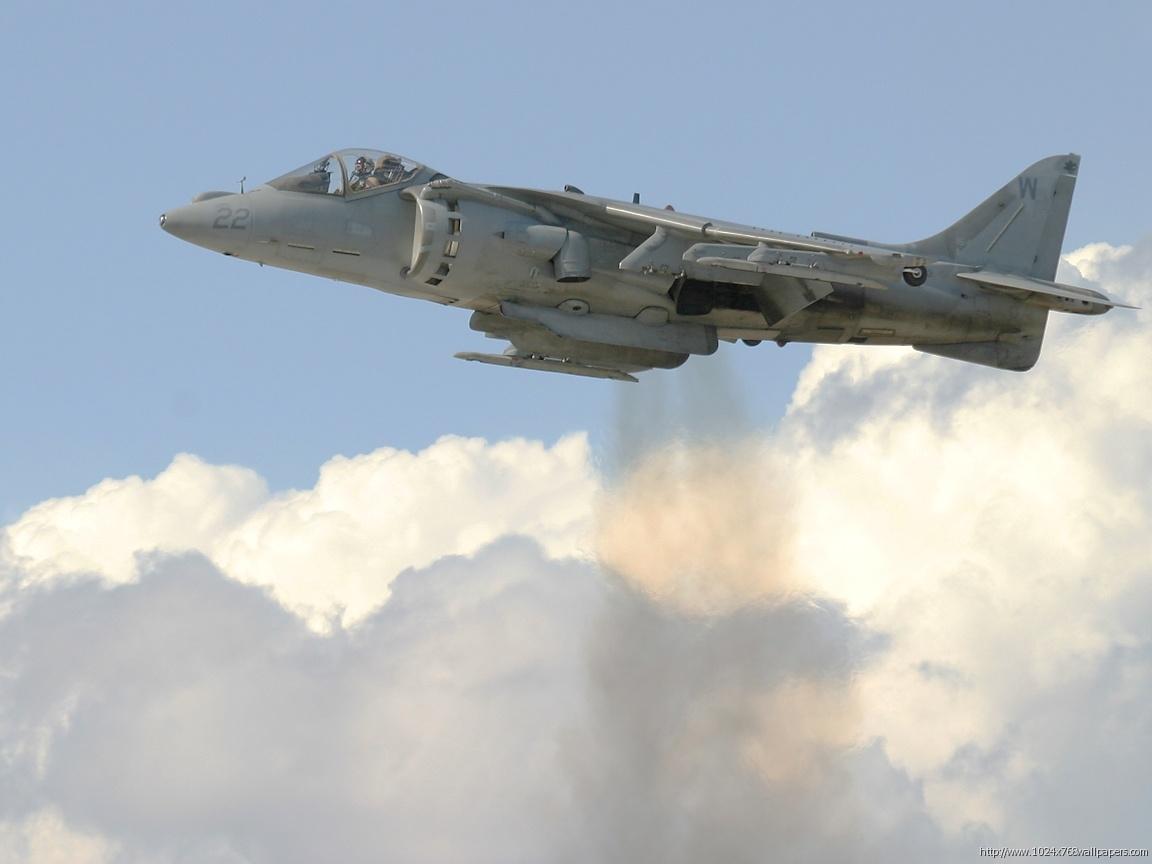 AV8B Harrier Hovering